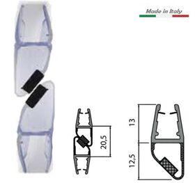 Coppia guarnizione SX + DX con magnete per vetro box doccia chiusura ad angolo MT. 2 mod. 412a