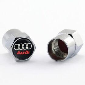 Tappi per valvole di pneumatici cromato lucido con logo AUDI - 4 pezzi