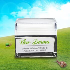Box regalo crema viso antirughe + siero viso anti-age entrambe alla bava di lumaca New Derma