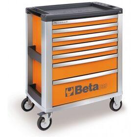 Carrello mobile portautensili per officina con 7 cassetti C39/7 BETA Arancione